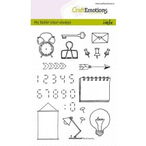 CraftEmotions clearstamps A6 - Bullet Journalffern