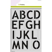 CraftEmotions Stencil groß - Alphabet Sans-Serif DIN A4