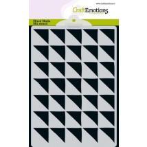 CraftEmotions Mixed Media-Stencil A6 - Dreiecke 90 Grad