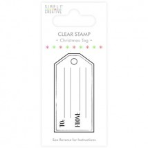 Simply Creative Christmas Tag Clear Stamp