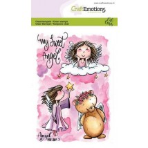CraftEmotions clearstamps A6 - Angel & Bear 3