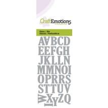 CraftEmotions Stanzschablone - kleines Alphabet Grossbuchstaben