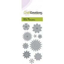 CraftEmotions Stanzschablone - Blumen-Mix
