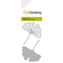 CraftEmotions Stanzschablone - Gingko-Blätter