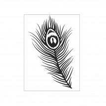 Darice Hintergrund-Prägeschablone - Peacock Feather