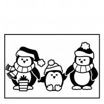 Darice Hintergrund-Prägeschablone - Penguins
