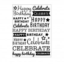Darice Hintergrund-Prägeschablone - Happy Birthday Celebration