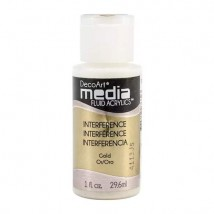 DecoArt Media Fluid Acrylics Paint Flüssige Acrylfarbe 1oz - Interference Gold