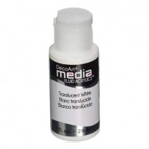 DecoArt Media Fluid Acrylics Paint Flüssige Acrylfarbe 1oz - Translucent White