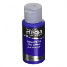 DecoArt Media Fluid Acrylics Paint Flüssige Acrylfarbe 1oz - Ultramarine Blue