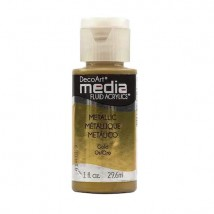 DecoArt Media Fluid Acrylics Paint Flüssige Acrylfarbe 1oz - Metallic Gold