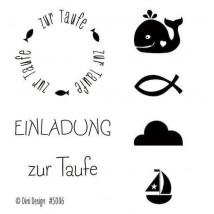 Dini Designs Mini Clear Stamps - Taufe