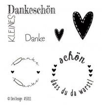 Dini Designs Mini Clear Stamps - Danke