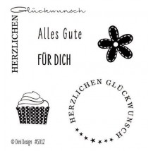Dini Designs Mini Clear Stamps - Glückwunsch