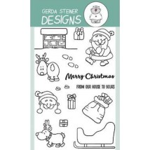 Gerda Steiner Design Clear Stamps - Up On the Housetop