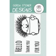 Gerda Steiner Design Clear Stamps - Hedgehog with Sign