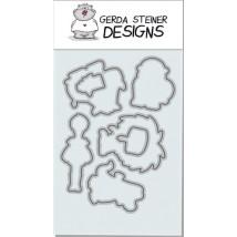 Gerda Steiner Designs - Party Animals Stanzschablonen-Set