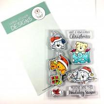Gerda Steiner Designs Clear Stamps - Christmas Puppies
