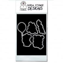 Gerda Steiner Designs - Lovely Pandas Stanzschablonen-Set