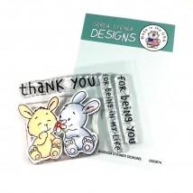 Gerda Steiner Design Clear Stamps - Bunny Friends 3x4