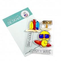 Gerda Steiner Design Clear Stamps - Catch a Wave 3x4