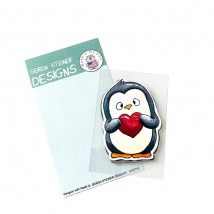 Gerda Steiner Designs Clear Stamps - Penguin with Heart 2x3