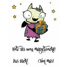 Karten-Kunst Clear Stamp Set - Daisy mit Geschenk