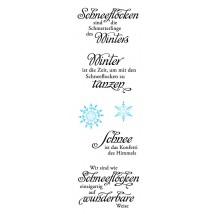 Karten-Kunst Clear Stamp Set - Weise Worte Schneeflocken