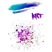 Karten-Kunst Clear Stamp Set - Splatters Art
