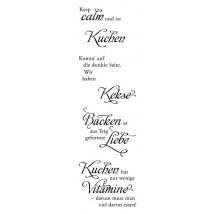Karten-Kunst Clear Stamp Set - Weise Worte Kuchen & Kekse