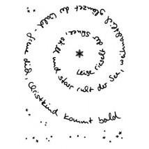 Karten-Kunst Clear Stamp Set - Spiral-Text Schnee