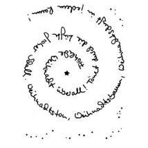 Karten-Kunst Clear Stamp Set - Spiral-Text Weihnachten