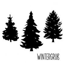 Karten-Kunst Clear Stamp Set - Winter-Tannen