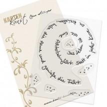 Karten-Kunst Clear Stamp Set - Spiral-Text Achterbahn