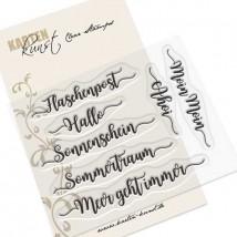 Karten-Kunst Clear Stamp Set - Kalligraphie am Meer