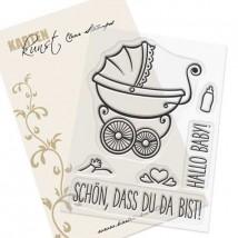 Karten-Kunst Clear Stamp Set - Schön, dass Du da bist