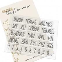 Karten-Kunst Clear Stamp Set - Kalender Nr. 1 2023