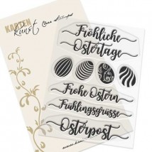 Karten-Kunst Clear Stamp Set - Kalligraphie zu Ostern