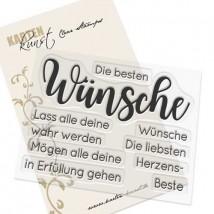 Karten-Kunst Clear Stamp Set - Riesige Beste Wünsche