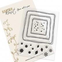 Karten-Kunst Clear Stamp Set - Kritzel Rahmen