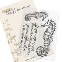 Karten-Kunst Clear Stamp Set - Seepferdchen