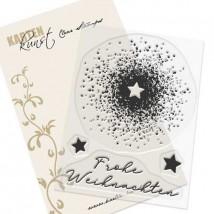 Karten-Kunst Clear Stamp Set - Splatters mit Stern