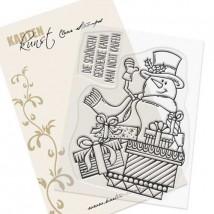 Karten-Kunst Clear Stamp Set - Schneemann mit Geschenken