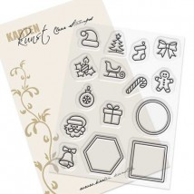 Karten-Kunst Clear Stamp Set - Mini Frames Christmas