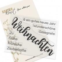 Karten-Kunst Clear Stamp Set - Riesige Wünsche Weihnachten
