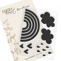 Karten-Kunst Clear Stamp Set - Rainbows