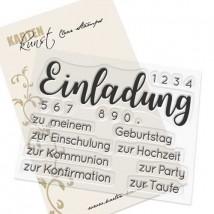Karten-Kunst Clear Stamp Set - Riesige Einladung