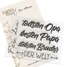Karten-Kunst Clear Stamps KK-0192 - Für die tollsten Männer der Welt
