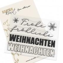Karten-Kunst Clear Stamps KK-0201 - Weihnachten modern
