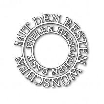 Karten-Kunst Stanzschablone - Kreistexte Mit den besten Wünschen